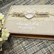 Свадебный салон ручной работы. Ярмарка Мастеров - ручная работа книга пожеланий с берестой. Handmade.