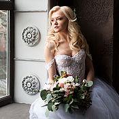 Свадебный салон ручной работы. Ярмарка Мастеров - ручная работа Свадебное платье с расшитым корсетом. Handmade.