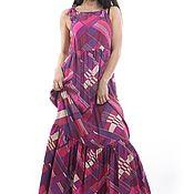 Одежда ручной работы. Ярмарка Мастеров - ручная работа Летнее платье в пол. Handmade.