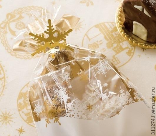 Упаковка ручной работы. Ярмарка Мастеров - ручная работа. Купить Новогодний пакет для упаковки  подарка.. Handmade. Золотой, упаковка для мыла