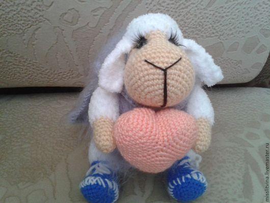 Игрушки животные, ручной работы. Ярмарка Мастеров - ручная работа. Купить вязаная игрушка овечка. Handmade. Ручная авторская работа