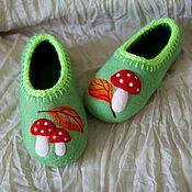 Обувь ручной работы. Ярмарка Мастеров - ручная работа Тапочки Мухоморчики. Handmade.