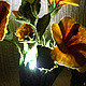 """Освещение ручной работы. Светильник  """"Гибискус"""". Людмила (LuMary). Ярмарка Мастеров. Шерсть для валяния, Мокрое валяние, электрошнур"""