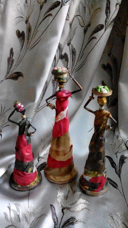 Статуэтки ручной работы. Ярмарка Мастеров - ручная работа. Купить Куклы из газетных трубочек. Handmade. Кукла ручной работы, плетение