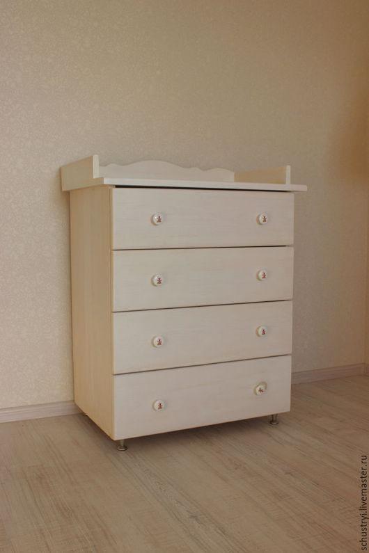 Мебель ручной работы. Ярмарка Мастеров - ручная работа. Купить Комод деревянный из массива кедра Белый медведь. Handmade. Белый