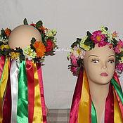 """Русский стиль ручной работы. Ярмарка Мастеров - ручная работа Венок на голову""""лето"""".. Handmade."""