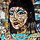 картина, купить картину, коллаж, микс медиа арт, клеопатра, женский портрет, портрет, картина в подарок, картина для интерьера, девушка