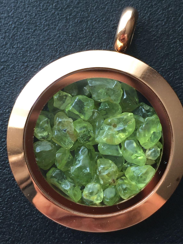 Pendant locket with Peridot, natural Peridot, Locket, Krasnodar,  Фото №1