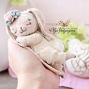 Куклы и игрушки ручной работы. Ярмарка Мастеров - ручная работа спящая зайка. Handmade.