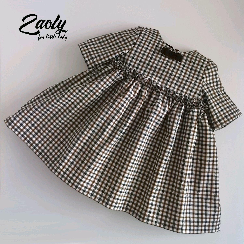 Платье для девочки Клетка 02