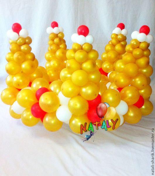 Персональные подарки ручной работы. Ярмарка Мастеров - ручная работа. Купить Золотая корона из воздушных шаров.. Handmade. Золотой