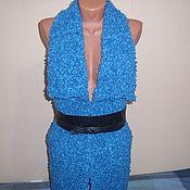 Одежда ручной работы. Ярмарка Мастеров - ручная работа Длинный жилет из буклированной пряжи. Handmade.