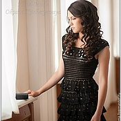 """Одежда ручной работы. Ярмарка Мастеров - ручная работа Платье """"Черный жемчуг"""". Handmade."""