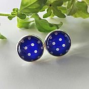 Украшения handmade. Livemaster - original item Earrings silver blue Pea. Handmade.
