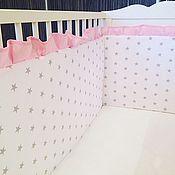 Бортики в кроватку ручной работы. Ярмарка Мастеров - ручная работа Бортики в кровать. Handmade.