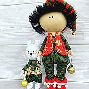 Мягкие игрушки ручной работы. Ярмарка Мастеров - ручная работа Новогодний гномик и его друг Малыш. Handmade.