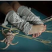 Работы для детей, ручной работы. Ярмарка Мастеров - ручная работа Красивые вязаные гетры для девочки Прелесть. Handmade.