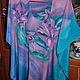 """Блузки ручной работы. Блуза """"Цветы""""из натурального шелка. Марина Зинкевич. Интернет-магазин Ярмарка Мастеров. Цветочный, приятный подарок"""