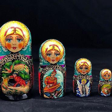 Русский стиль ручной работы. Ярмарка Мастеров - ручная работа Матрешка 5 мест с миниатюрой. Handmade.