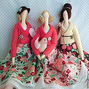 Куклы и игрушки ручной работы. Ярмарка Мастеров - ручная работа Клубнично-шоколадные барышни. Handmade.