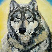 Картины и панно handmade. Livemaster - original item Oil painting Wolf Akella. Handmade.