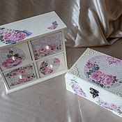 Для дома и интерьера ручной работы. Ярмарка Мастеров - ручная работа Шкатулка и комодик в стиле шебби-шик. Handmade.