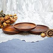 Посуда handmade. Livemaster - original item Tableware - Plates, wooden, 19,5 cm (3#38. Handmade.