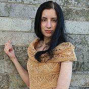"""Dresses handmade. Livemaster - original item Openwork dress """"Caramel"""". Handmade."""