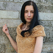 "Одежда handmade. Livemaster - original item Openwork dress ""Caramel"". Handmade."