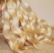Материалы для творчества handmade. Livemaster - original item Hair for dolls (wheat) Curls Curls for dolls. Handmade.