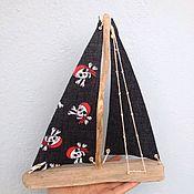 Для дома и интерьера handmade. Livemaster - original item Interior toy Driftwood Boat with sails. Handmade.