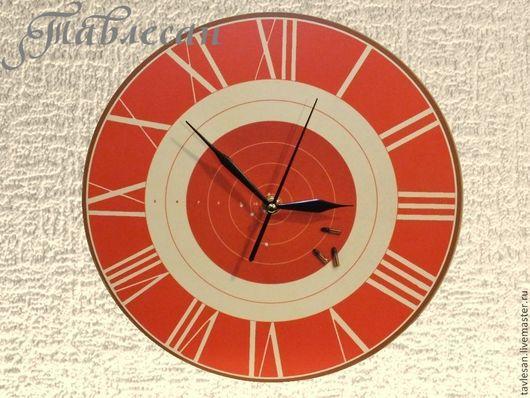 """Часы для дома ручной работы. Ярмарка Мастеров - ручная работа. Купить Часы настенные """"Мишень"""" круглые в подарок мужчине. Handmade."""