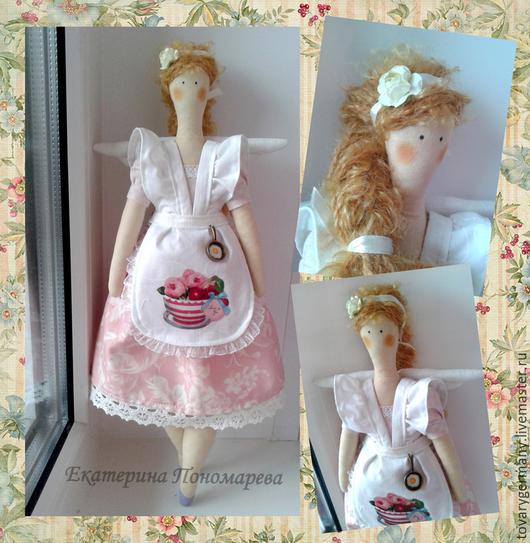 """Куклы Тильды ручной работы. Ярмарка Мастеров - ручная работа. Купить Кукла ангел тильда Толстушка """"Хозяюшка"""". Handmade."""