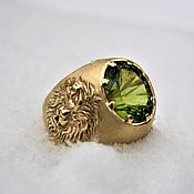 Украшения handmade. Livemaster - original item Gold finger-ring male lion. Handmade.