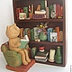 Toy Miniatures handmade. Livemaster - handmade. Buy Library.Cat, books;;library, ceramics, acrylic