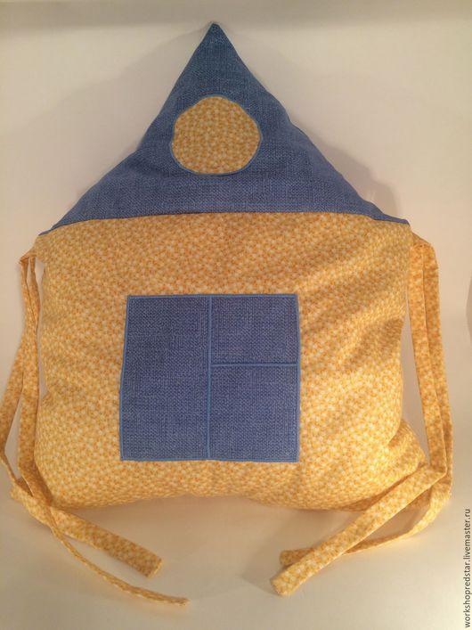 Для новорожденных, ручной работы. Ярмарка Мастеров - ручная работа. Купить Бортики в детскую кроватку Домик. Handmade. Желтый