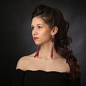 Украшения handmade. Livemaster - original item Earrings-brushes