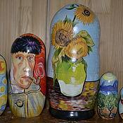 Русский стиль handmade. Livemaster - original item matryoshka van Gogh. Handmade.