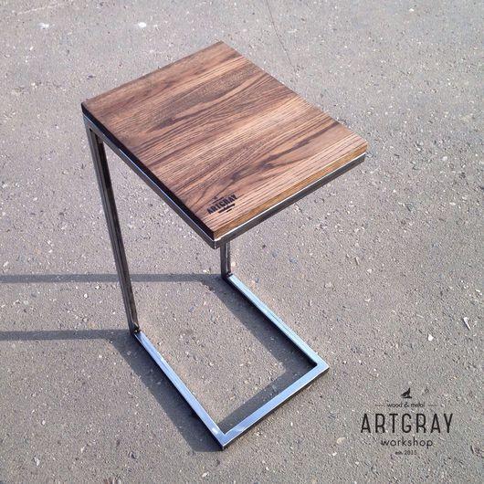Мебель ручной работы. Ярмарка Мастеров - ручная работа. Купить Придиванный столик в стиле лофт. Handmade. Лофт, сосна, металл