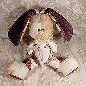 Мягкие игрушки ручной работы. Ярмарка Мастеров - ручная работа Заяц Пудровые цветы. Handmade.