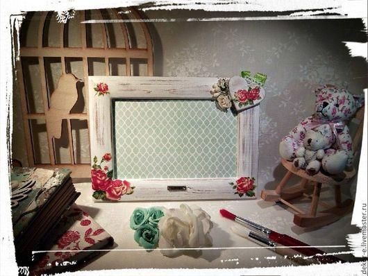 Романтичная и нежная фоторамка в подарок для девушки, мамы. Предметы интерьера на заказ в моем магазине.