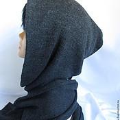 Аксессуары ручной работы. Ярмарка Мастеров - ручная работа Мужской  Шарф-капюшон +митенки мужская шапка с шарфом, шарф капюшон. Handmade.
