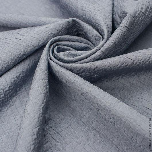 Шитье ручной работы. Ярмарка Мастеров - ручная работа. Купить Костюмная ткань-фукра   ARMANI JEANS темно-голубая меланж. Handmade.