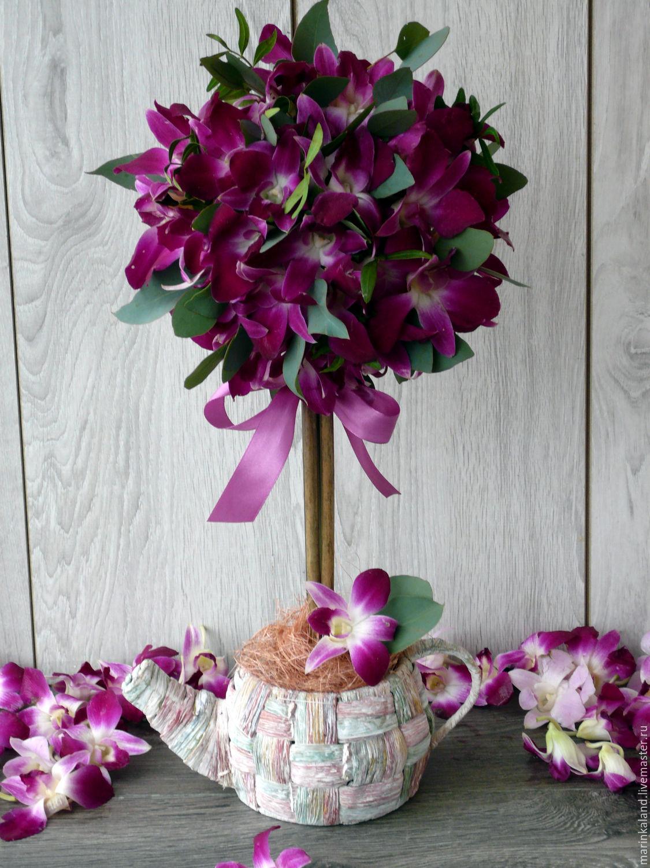 Топиарий мастер класс живые цветы фото