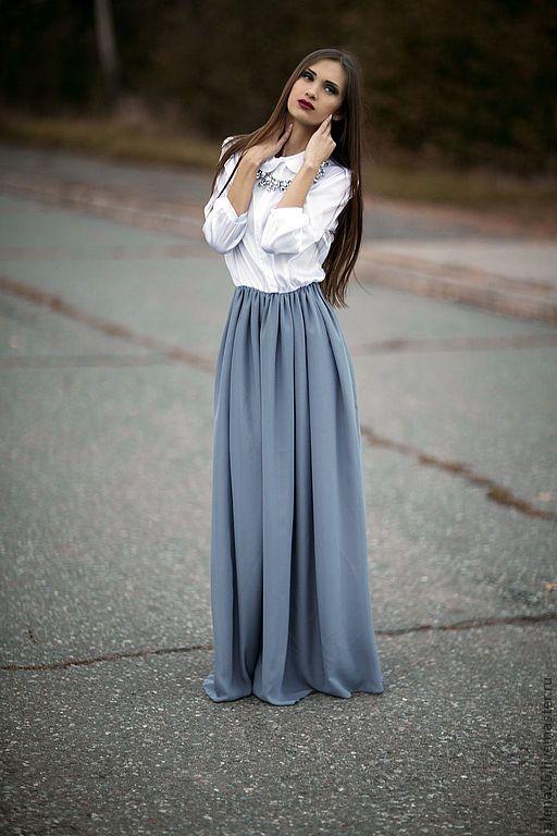 Платья в пол повседневные фото