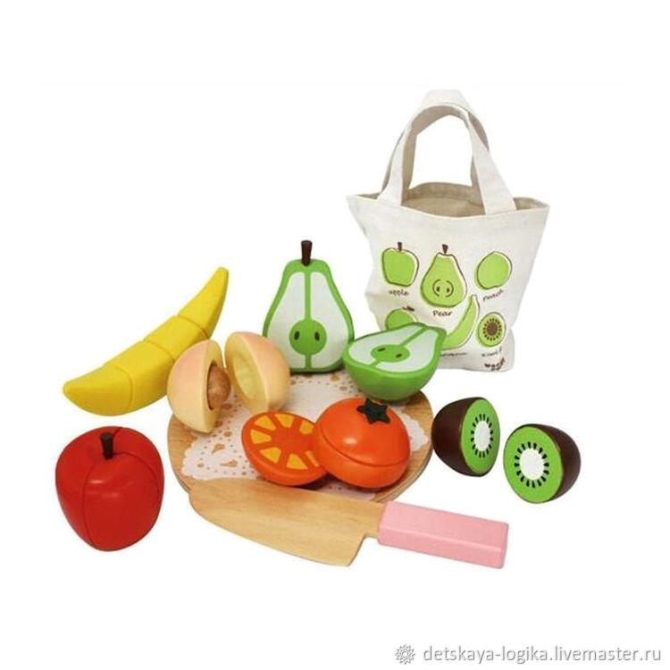 Конструктор деревянные фрукты, Кукольная еда, Старый Оскол,  Фото №1