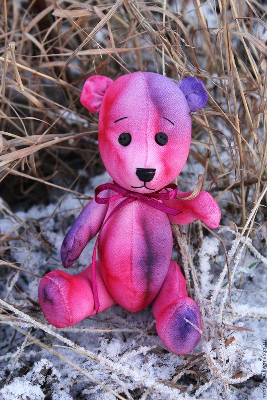 """Игрушки животные, ручной работы. Ярмарка Мастеров - ручная работа. Купить Медвежонок """"Эмма"""". Handmade. Фуксия, текстильная игрушка"""