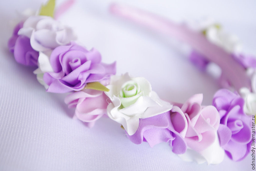 Tiaras & Headbands handmade. Livemaster - handmade. Buy Headband 'lilac'.Handmade, lilac, hairstyle, a stylish accessory