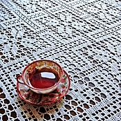 Для дома и интерьера handmade. Livemaster - original item Tablecloth rectangular knitted Natalie. Handmade.