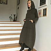 Одежда ручной работы. Ярмарка Мастеров - ручная работа Платье-худи из футера HOODIES. Handmade.